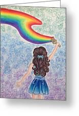 Painting Rainbow Greeting Card
