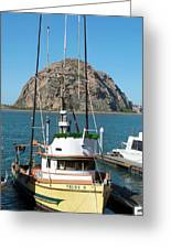 Painting The Trudy S Morro Bay Greeting Card