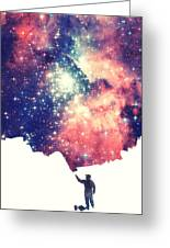 Painting The Universe Awsome Space Art Design Greeting Card