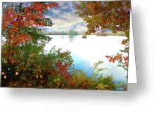 Paints Of Fall Greeting Card