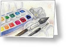 Paints Greeting Card