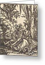 Pair Of Lovers In A Landscape Greeting Card