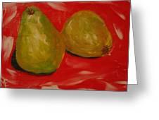 Pair Of Pears Greeting Card