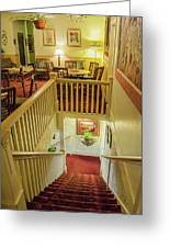 Palace Hotel Staircase Greeting Card