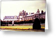 Palace Of Fontainebleau 1955 Greeting Card