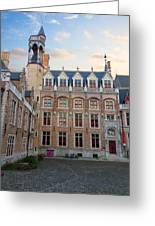 Palace Of Gruuthuse In Brugge Greeting Card