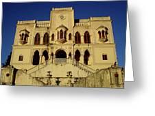 Palace Of The Maharaja Of Tehri-garhwal Near Rishikesh, India Greeting Card