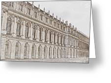 Palace Of Versailles Greeting Card