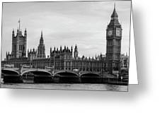 Palace Of Westminster And Elizabeth Tower Greeting Card