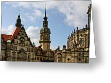 Palace Square In Dresden Greeting Card by Christine Till