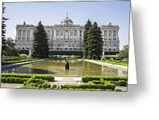 Palacio Real De Madrid Greeting Card