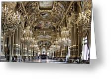 Palais Garnier Grand Foyer Greeting Card