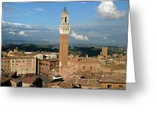Palazzo Pubblico And Campo Siena Greeting Card