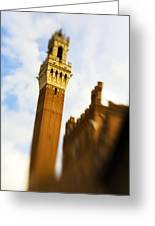Palazzo Pubblico Tower Siena Italy Greeting Card