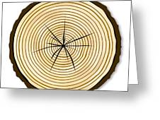 Pale Log End Greeting Card