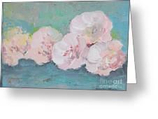 Pale Pink Peonies Greeting Card