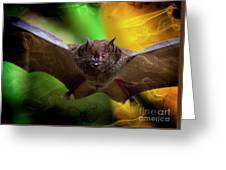 Pale Spear-nosed Bat In The Amazon Jungle Greeting Card