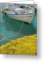 Paleohora Fishing Boat Greeting Card