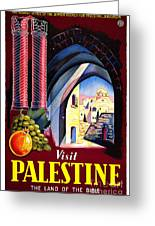 Palestine Travel Poster Greeting Card