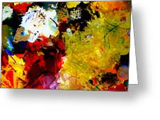 Palette Abstract Square Greeting Card