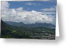 Pali Overlook Greeting Card