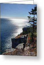 Palisade Head Lake Superior Minnesota Winter Afternoon Greeting Card