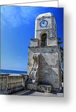 Palm Beach Clock Tower  Greeting Card