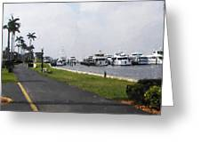 Palm Beach Marina Greeting Card