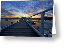 Palm Beach Wharf At Dusk Greeting Card