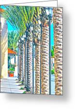 Palm Columns Greeting Card