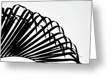 Palm Frond Black And White Greeting Card