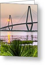 Palm Harbor Sunset - Charleston Sc Greeting Card
