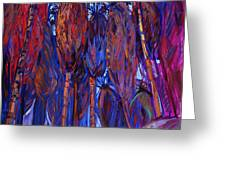 Palm Oasis Greeting Card by Erin Hanson