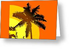 Palm On The Half Shell Greeting Card