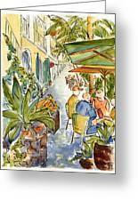 Palm Passage Greeting Card by Pat Katz