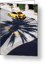 Palm Porsche Greeting Card