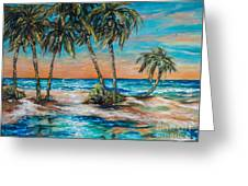 Palm Reflection Lagoon Greeting Card