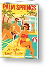 Palm Springs Poster - Retro Travel Greeting Card