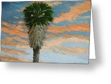 Palm Sunrise Greeting Card