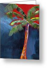 Palm Tree- Art By Linda Woods Greeting Card