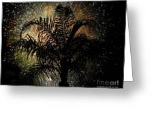 Palm Tree Fireworks Greeting Card