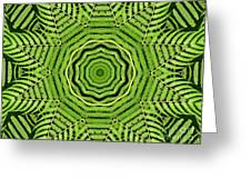 Palm Tree Kaleidoscope Abstract Greeting Card