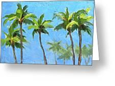 Palm Tree Plein Air Painting Greeting Card