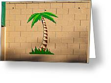 Palm Tree Sign Greeting Card
