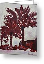 Palm Trees Acrylic Modern Art Painting Greeting Card