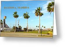 Palm Trees Of Daytona Florida Greeting Card
