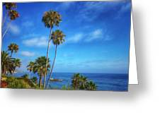 Palm Trees On The Pacific Greeting Card