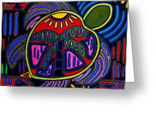 Palm Turtle Mola Greeting Card