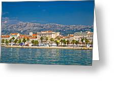 Palm Waterfront Of Split City Greeting Card