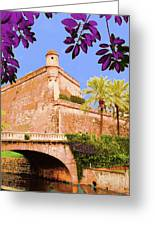 Palma De Majorca Old City Walls Greeting Card